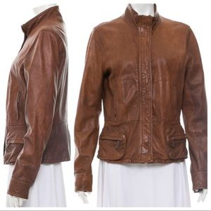 Vince Leather Jacket Small